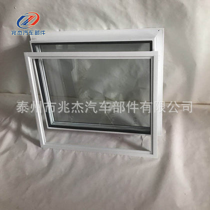 Factory direct sales aluminum alloy glass fixed window double insulating glass fixed window toll booth hollow soundproof window