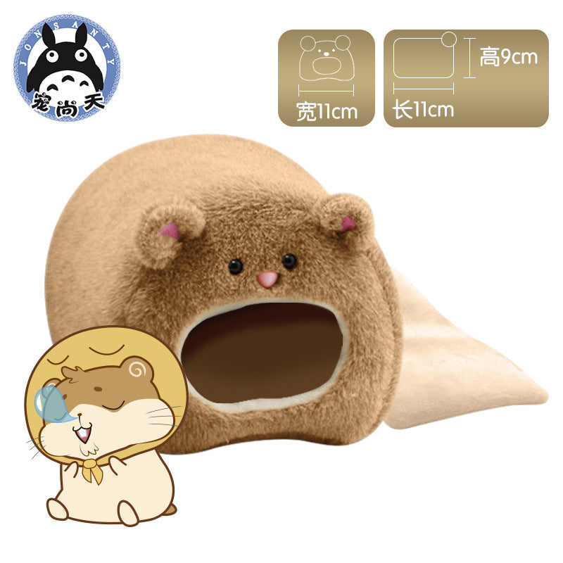 宠尚天 Factory Outlet Mouse Cotton Nest Cute Bear Winter Warm Bedroom Hamster Warm Cotton Nest Sleeping Bag