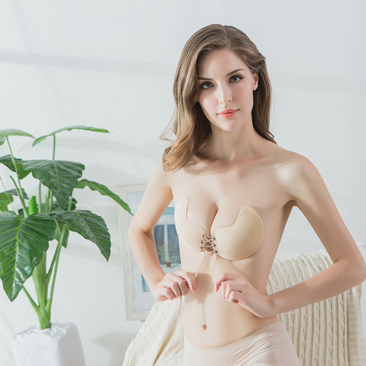 Factory direct winged Lala goddess silicone nipple invisible chest stickers gathered invisible bra invisible underwear