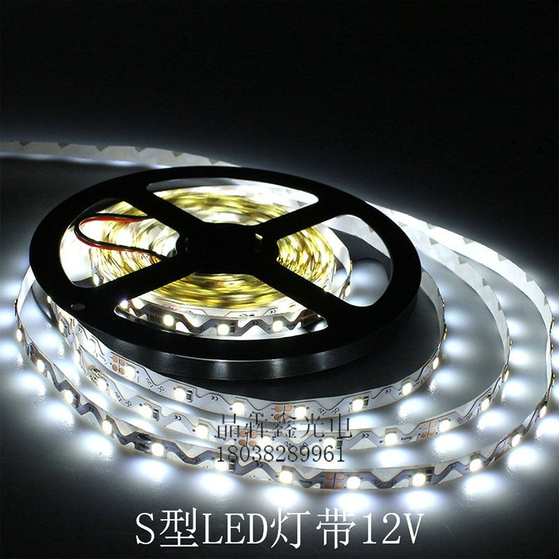 LED lights with 2835 copper sub-frame large chip white light 12v waterproof advertising logo engineering special S-type soft light belt