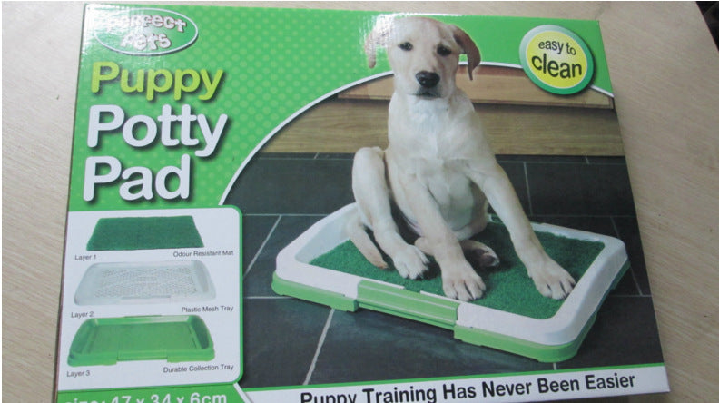 Puppy Potty Pad simulation lawn dog toilet indoor dog urinal dog three-layer plastic toilet