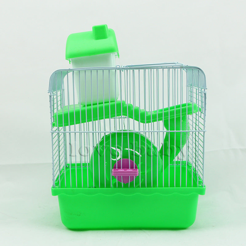 Baby Baby Pet Products Small Hamster Cage Small Pastoral Three-line Pudding Silver Fox Purple Warehouse