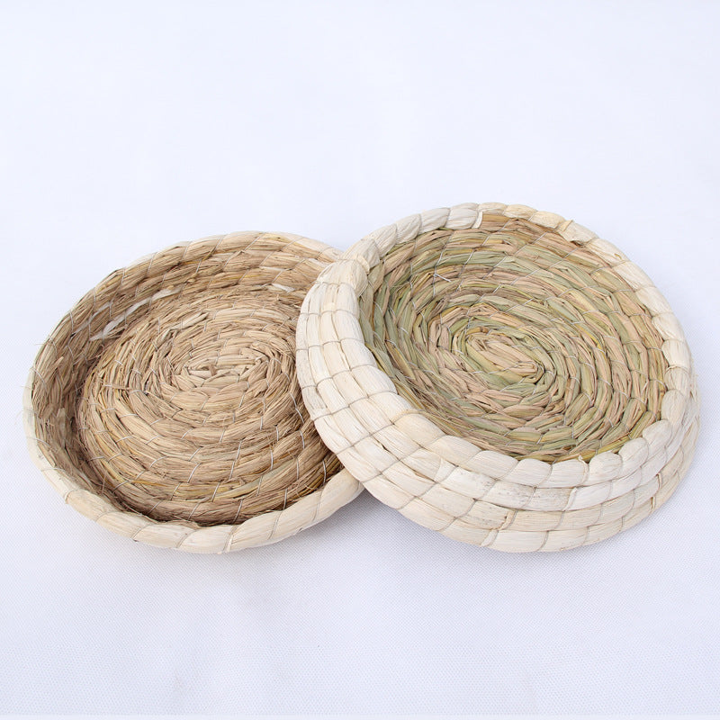 Yuanbao chicken nest Yuanbao pigeon nest grass cat litter rabbit kennel pigeon nest egg nest breeding nest grass nest straw nest basin