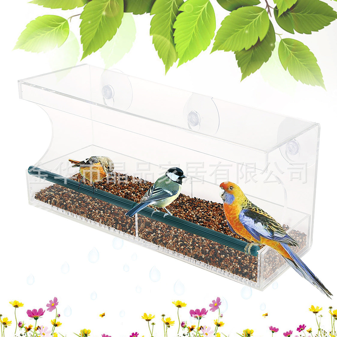 New Acrylic Bird Feeder Acrylic Bird Feeder Bird cage can be hung in a variety of styles