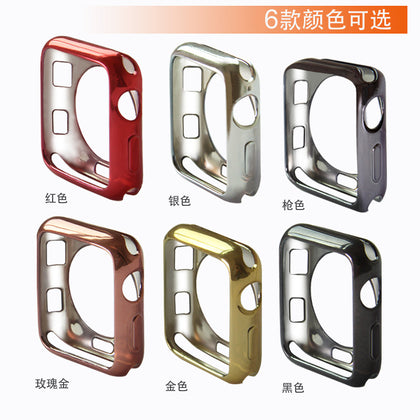 Suitable for Apple watch protective shell Apple Smart Watch TPU plating 3rd generation protective cover