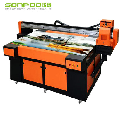 Songpu color printing UV flatbed printer large equipment 3d embossed mobile phone shell t-shirt PVC tile metal acrylic
