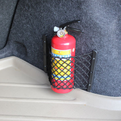 Fire extinguisher net trunk storage net block net storage net storage box net pocket screw network car fire extinguisher fixed