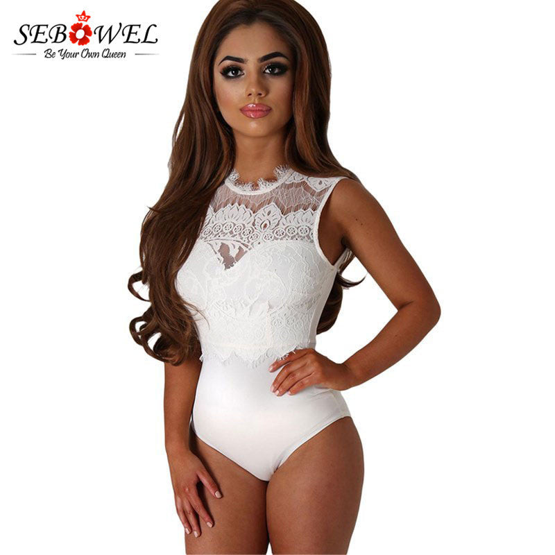 AliExpress foreign trade explosion models sexy sleeveless round neck lace one-piece dress backless one-piece vest pajamas 32050