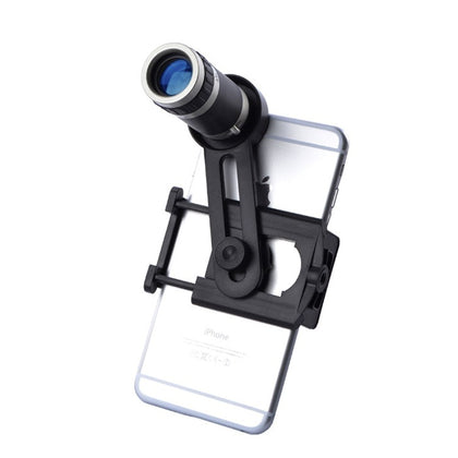 8X mobile phone telescope head 8 times telephoto lens Universal universal stretching clip 8 times mobile phone lens
