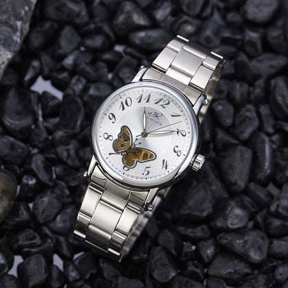 Steel-White Case-White Face-Gold Movement (2)