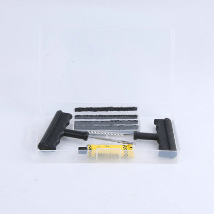 Tire repair tool for automobile and motorcycle vacuum tire repair with plastic handle