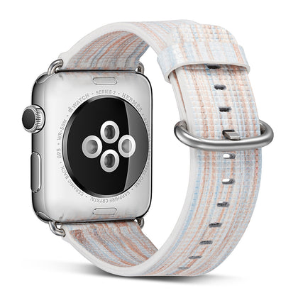 Amazon explosion models are suitable for Apple strap leather embossed painted strap for Apple watch strap