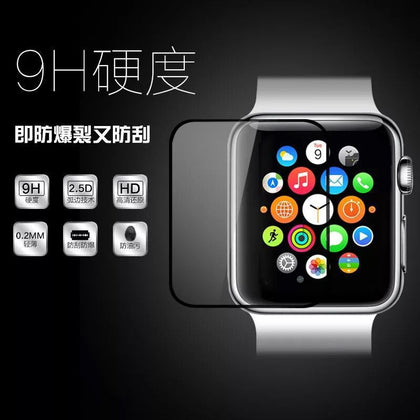 Applicable apple watch tempered film 38-42 full screen silk screen tempered film Applicable apple watch film explosion-proof
