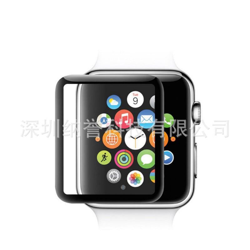 Suitable for Apple Watch 3D tempered film iwatch4 curved full screen protective film watch explosion-proof film HD