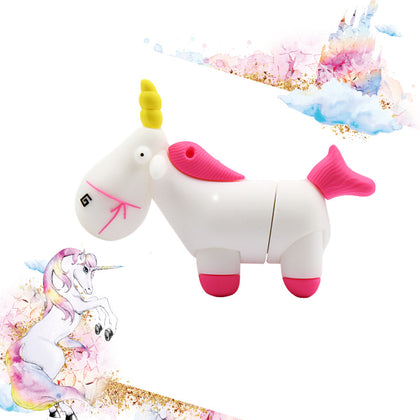 Wholesale Cartoon PVC Horse USB Flash Drive Creative Anime Animal USB Flash Drive 8g16g32g Personality Unicorn USB Flash Drive