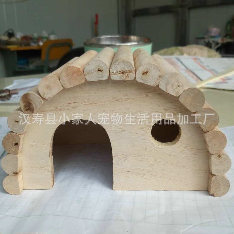 Wooden arched bedroom chalet Chinchilla hamster chalet house wholesale pet supplies toy hamster