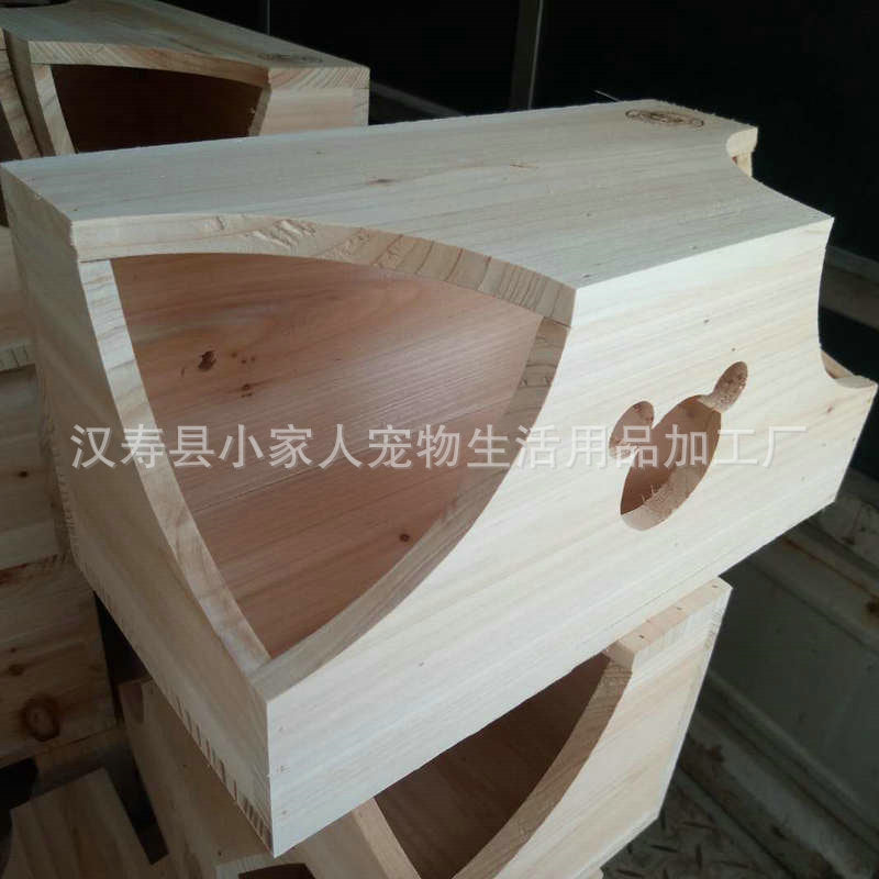 A variety of chinchillas squirrel guinea pig wooden house cedar sorghum high quality wooden nest double couple cool summer pet huts