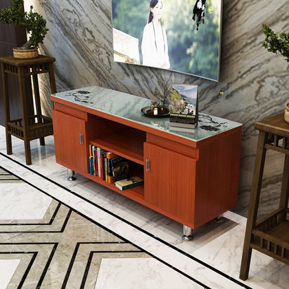#TV cabinet mini living room bedroom TV cabinet high floor cabinet simple TV cabinet mini audio-visual cabinet specifications