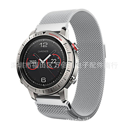Suitable for Garmin Fenix Chronos Milan strap stainless steel woven mesh Nice strap