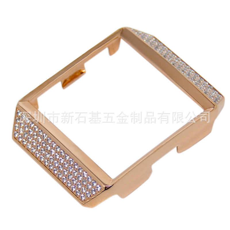 Suitable for Fitbit ionic smart watch diamond case metal protection case with diamond anti-fall case