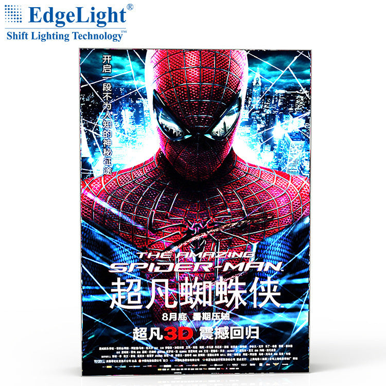 Hot sale recommended AF45A double-sided canvas card light box available backlight and side light source size can be customized
