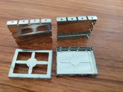 0.2T ocean white copper square shield cover, hand sample processing sample, small batch production, large batch