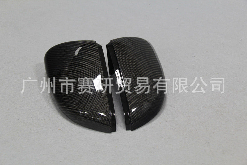Applicable to Volkswagen high 6 high 72014-2018 replacement carbon fiber modified rearview mirror cover factory straight