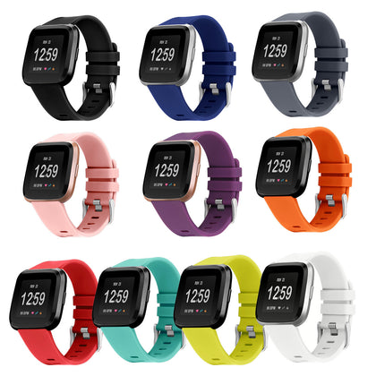 For Fitbit Versa Silicone Strap Versa Sport Silicone Replacement Wristband Watch Strap