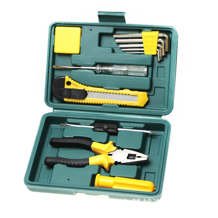 Hardware Toolbox Car Repair 11-piece Toolbox Car Emergency Combination Set Gift B