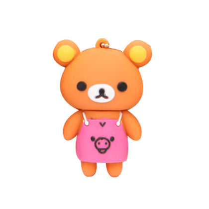 Cartoon USB flash drive gift 16gu disk cute creative 32G apron bear USB flash drive 64g bear USB flash drive