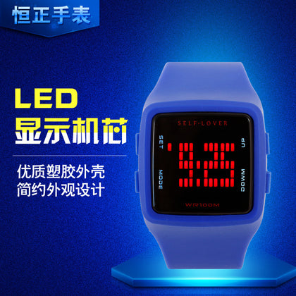 Korean New Student Outdoor Sports Jelly Electronic LED Watch Wholesale Fashion Children Personality Running Watch