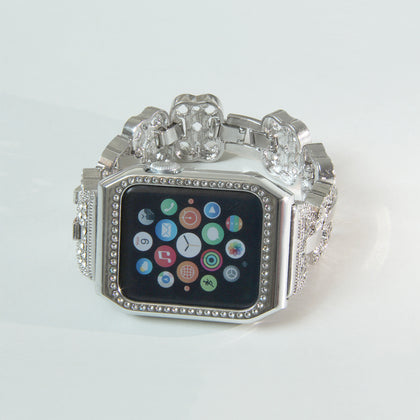 New Fashion Applicable Apple Watch iwatch Diamond Protective Case Universal 1/2/3 Generation with Diamond Factory Direct Sales
