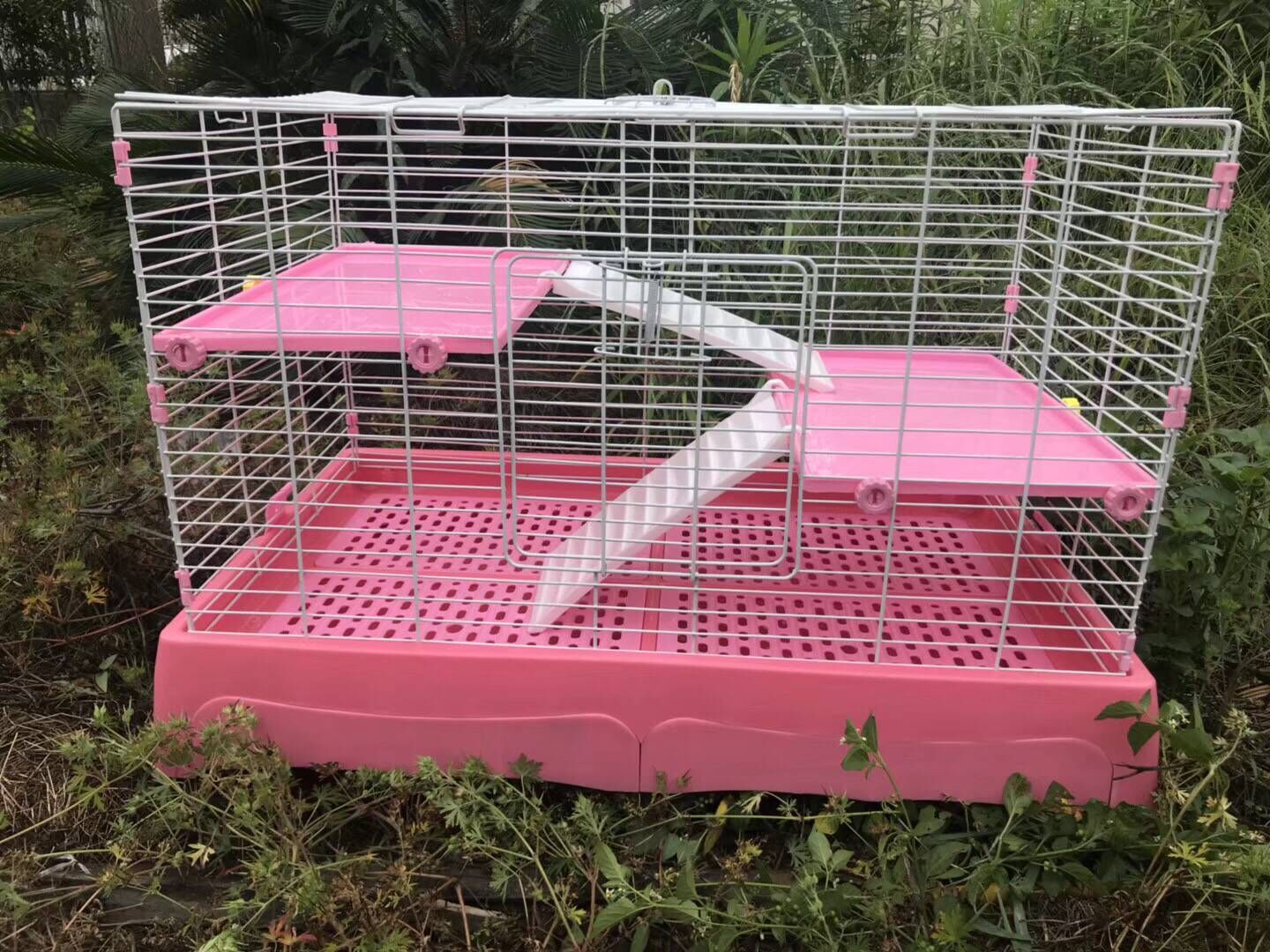 【Pet cage】Large Deluxe Drawer Rabbit Cage 1m Dog Cage Cat Cage Easy to Clean Dog Cage Cat Cage Rabbit Cage