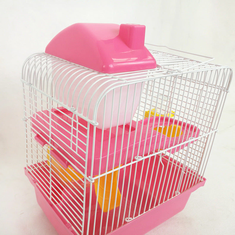 Hamster supplies small garden villa hamster cage wire metal double hamster cage pet hamster cage