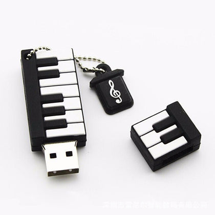 Musical instrument pipa cartoon U disk PVC creative violin guitar U disk 2.0 piano fan guitar USB stick