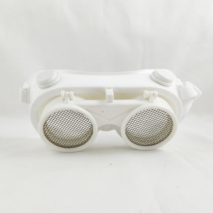 Jiexing custom white frame 1151 double flipping eye mask anti-splash lens can be changed against impact flip stainless steel mesh