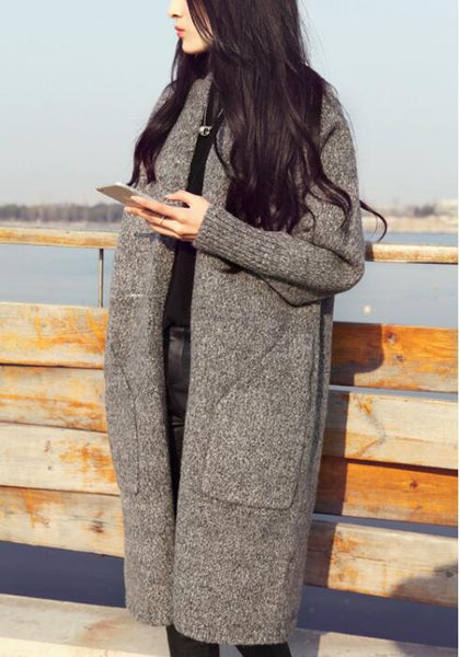 2018 autumn new fashion women's sweater sweater autumn new mid-length sweater cardigan jacket