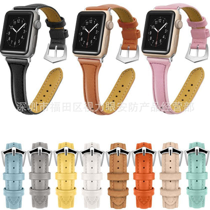 Suitable for Apple Watch Strap Apple Watch 1/2/3/4 First Layer Real Leather Watch Strap Spot