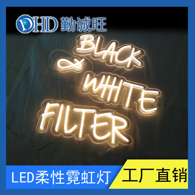 Led English letters glowing neon custom neon billboards luminous words lighting engineering led neon lights