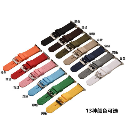 Small fresh solid color nylon strap for Apple iwatch3 / 4 generation smart watch with 38mm42mm nylon