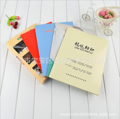 Supply fabric color printing, sample color card customization, custom folding
