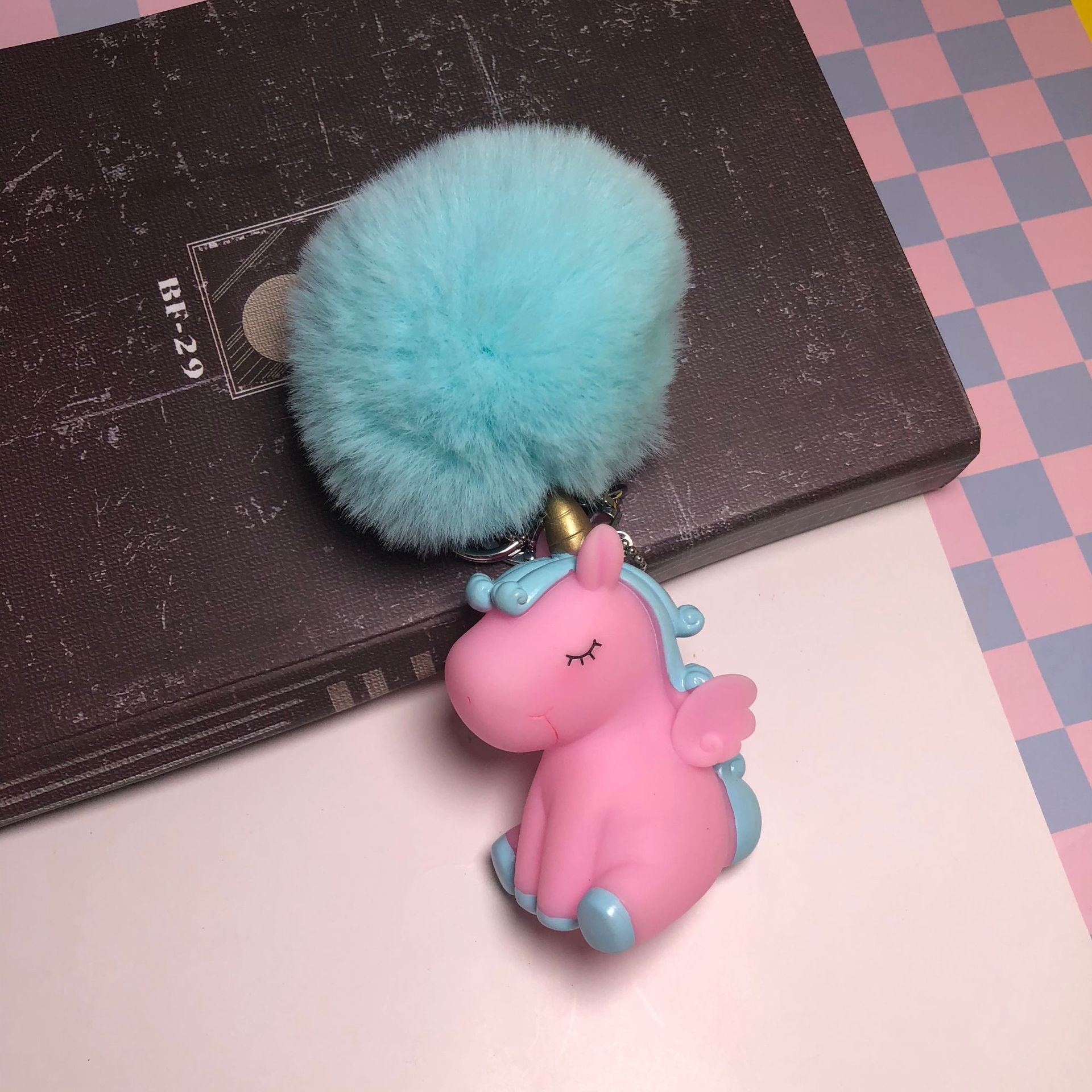Ins net red unicorn cute pet venting doll BB called key chain bag pendant cute dream gift wholesale