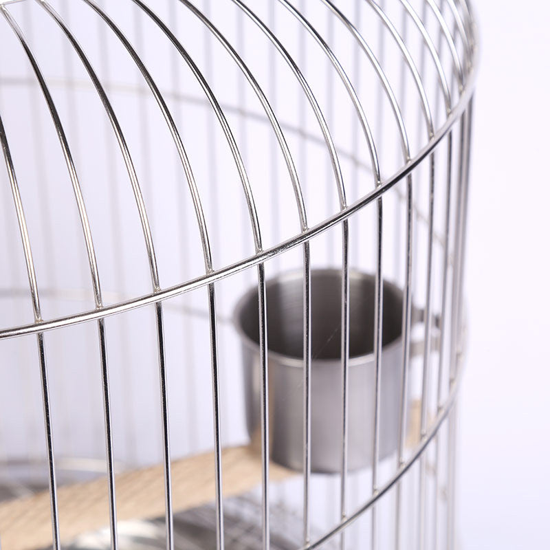 Factory direct stainless steel bird cage thrush bird cage starling brother parrot cage cage round durable
