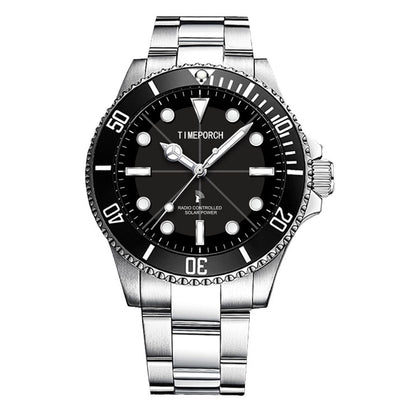 Premium Quality Lightwave Watch 100m Waterproof Solar Watch All Stainless Steel Eco-Drive Watch