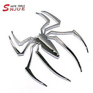 High-grade solid metal spider car stickers car decoration stickers spiders to avoid evil individual car accessories