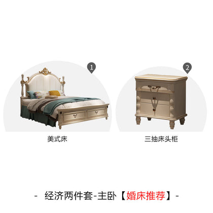 Benoy song light luxury American bed European double bed 1.8 master bedroom bed white princess bed simple country furniture