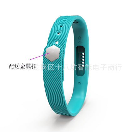 Suitable for Fitbit flex 2 bracelet, smart sports bracelet with transparent film wristband, environmental protection and safety