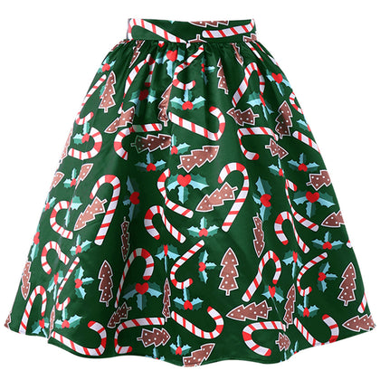 Spot Aliexpress wis new Christmas printing crutch skirt