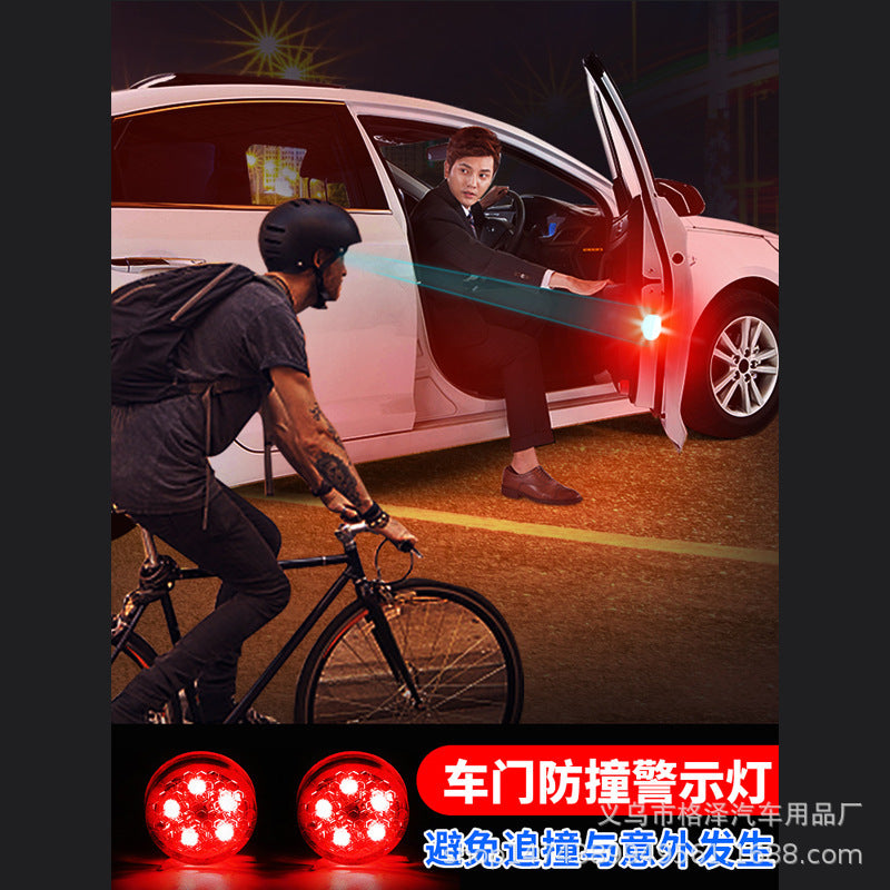 Car supplies door warning lights Car LED decorative lights free of modification wireless anti-collision anti-collision sensor lights