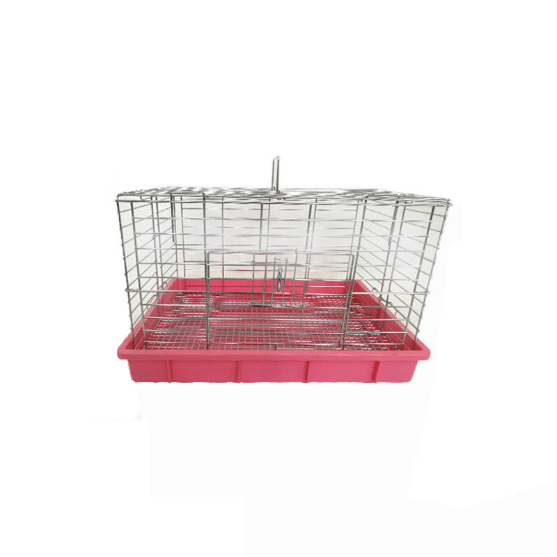 Pet cat dog cage medium blue plate rabbit cage plating wire cage spray paint dog cage rabbit cage supplies wholesale